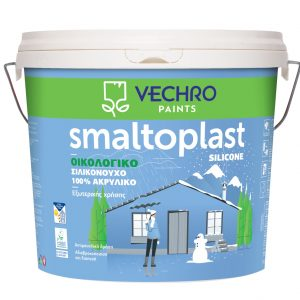 Smaltoplast silicone 100% ακρυλικό ΛΕΥΚΟ 10L
